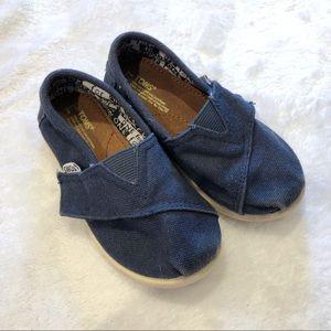 Toms   Blue Toddler Shoes sz T8